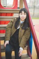 mulher jovem bonita hipster asiática