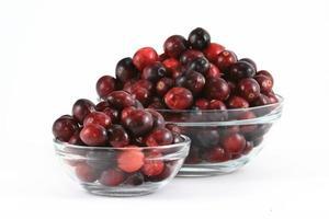 taças de cranberry foto