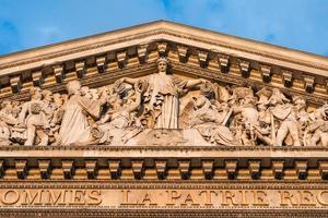 o panteão, paris frança-detalhe arquitetônico foto