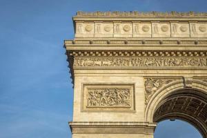 detalhe arquitetônico do arco do triunfo foto