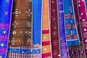 karen tecido na Tailândia foto