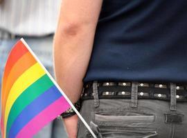 bandeira do arco-íris foto