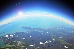 vista aérea da terra