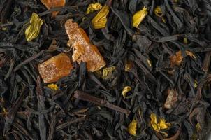 chá de frutas fechar como plano de fundo