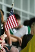 pequena bandeira americana foto