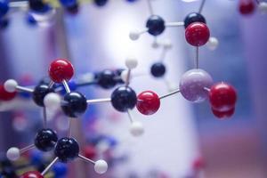 estrutura molecular do dna da ciência, conceito de conexão de comunicação empresarial foto