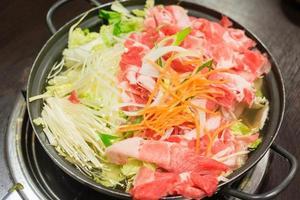 carne shabushabu foto