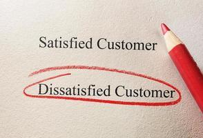 cliente insatisfeito