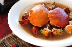 prato de caranguejo foto