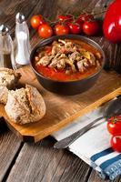 sopa de goulash com páprica. foto