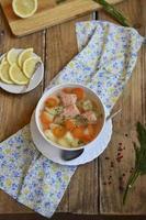 sopa de peixe (truta) foto