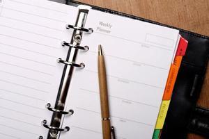agenda aberta foto