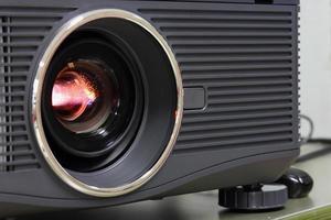 projetor de lente de luz perto foto
