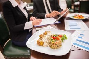 almoço de negócios foto