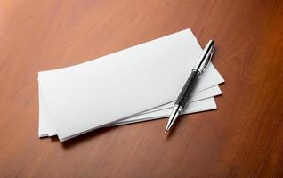 caneta e letras foto
