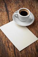café e carta foto