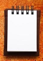 bloco de notas em branco foto