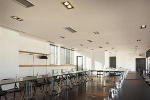 interior moderno da sala de conferências foto