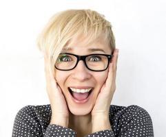 mulher feliz foto