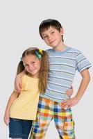 irmão e irmã foto