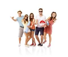 grupo de estudantes felizes foto