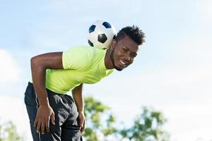 bola de futebol de equilíbrio foto