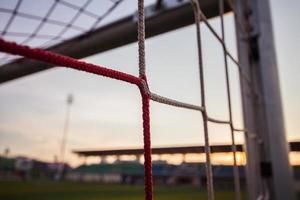 redes de gol de futebol foto
