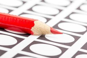 lápis vermelho usado para votar