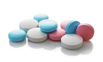 pílulas coloridas médicas foto