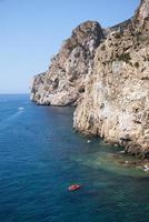 pan di zucchero rochas no mar, masua pilha (nebida) da Sardenha foto