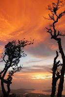 pôr do sol no parque nacional