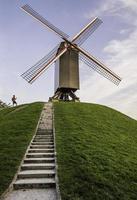 moinho de vento belga foto