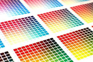 tabela de cores foto