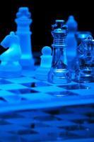 jogo de xadrez de vidro