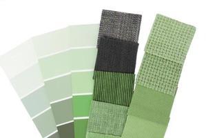 seleção de cores de tapeçaria de estofados