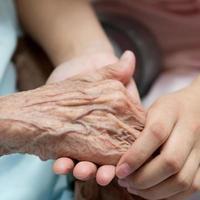 mãos velhas e jovens foto