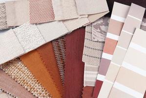 seleção de cores de tapeçaria de estofados foto