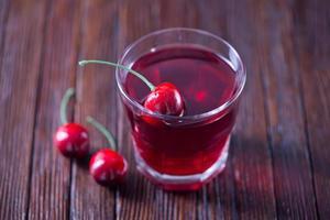bebida de cereja foto