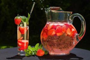 bebida de morango foto