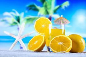 bebida cocktail de laranja foto