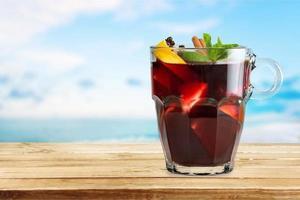 vinho, bebida, quente foto