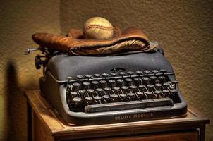 o escritor de esportes vintage foto