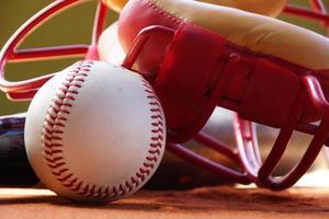 máscara de beisebol e catadores 2 foto