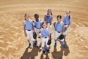 jogadores de softbol foto