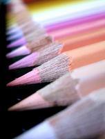 lápis de cor foto