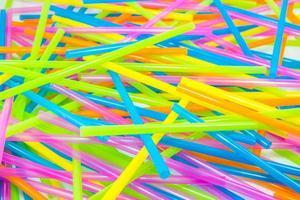 canudos coloridos foto
