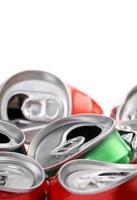 latas de refrigerantes foto