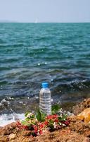 garrafa de água potável foto