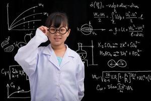 pequeno cientista foto