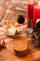 comida e bebida de natal